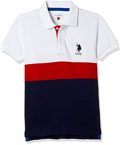 reasonably priced color brilliancy select for latest US Polo Association Boy's Plain Regular Fit T-Shirt