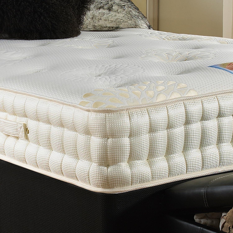 Hf4You 3500 muelles ensacados y colchón de espuma con efecto memoria, poliuretano, 121 cm: Amazon.es: Hogar