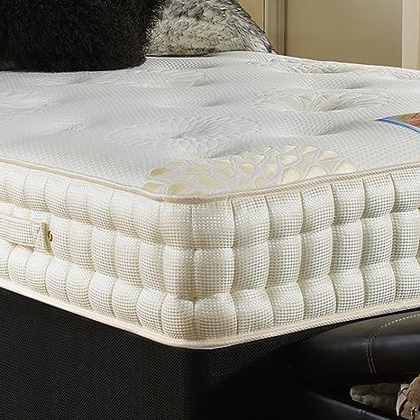 Hf4You 3500 muelles ensacados y colchón de espuma con efecto memoria, poliuretano, 121 cm