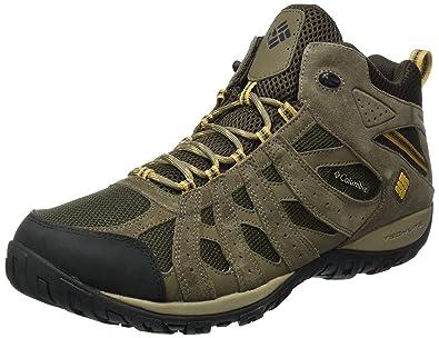 Columbia Redmond Omni-Tech, Chaussures de Randonnée Basses Homme, Noir (Cordovan/Garnet Red 231), 44 EU