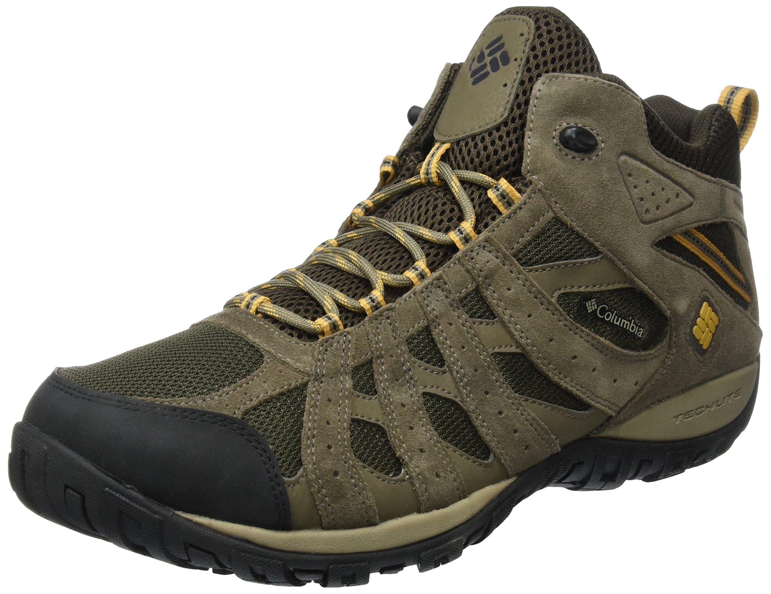 Columbia Men's Redmond Mid Waterproof Boot, Breathable, High-Traction Grip Hiking, Cordovan, Dark Banana, 11 D US