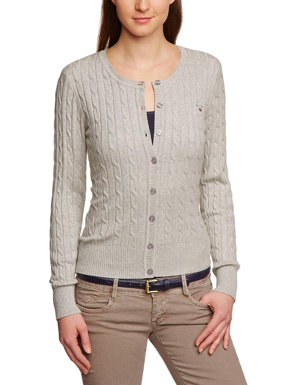 Gant Stretch Cotton Cable Crew Cardigan - Jersey de Punto para Mujer