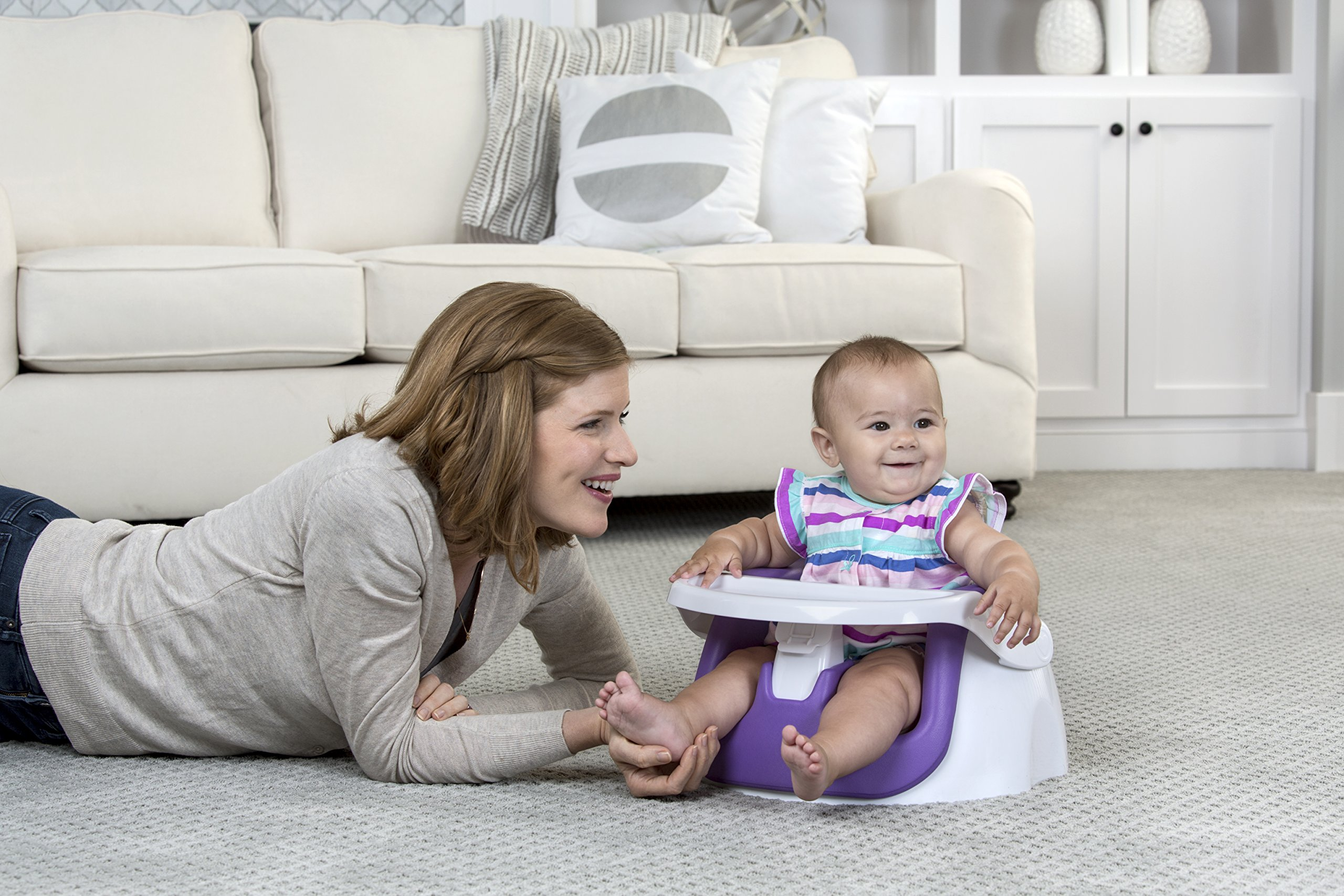 Regalo Grow with Me Floor Seat and Activity Chair with Removable Feeding Tray and Soft Foam Seat