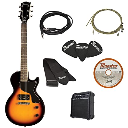 d321e719b3d Amazon.com: Maestro by Gibson Electric Guitar Starter Package, Vintage  Sunburst: Musical Instruments