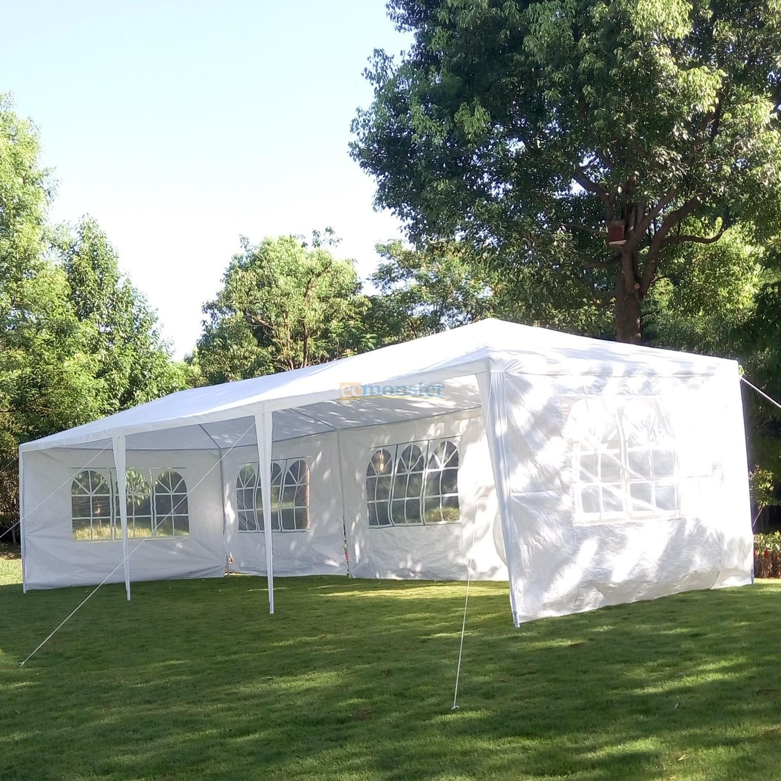 10' X 30' Canopy Outdoor Wedding Party Tent Gazebo Pavilion w/5 Walls Cover