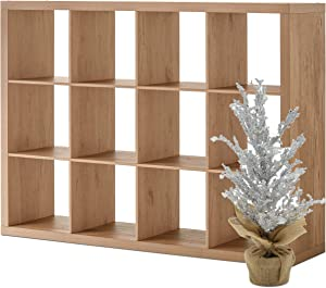 Better Homes and Gardens 12-Cube Organizer and Xmas Tree Bundle, Natural