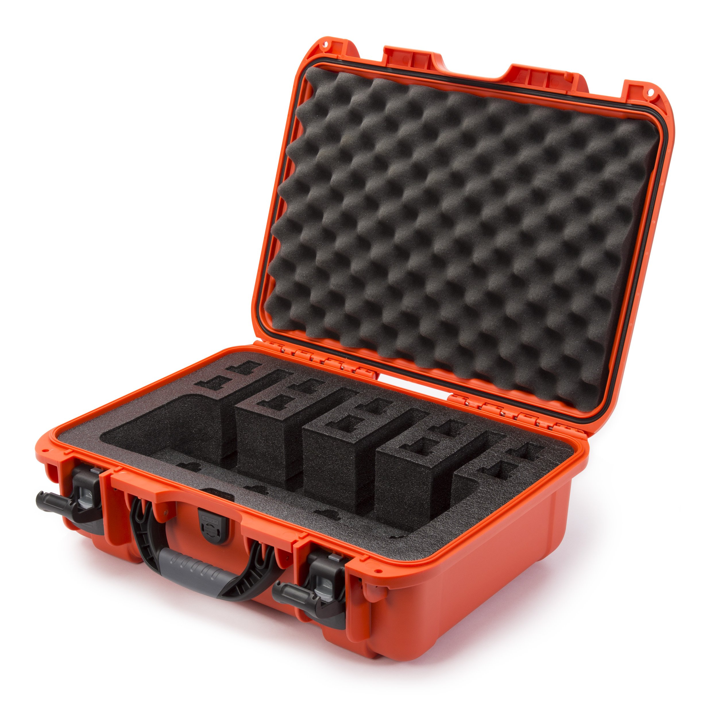 Nanuk 925 Waterproof Professional Gun Case, Military Approved with Custom Foam Insert for 4UP - Orange by Nanuk
