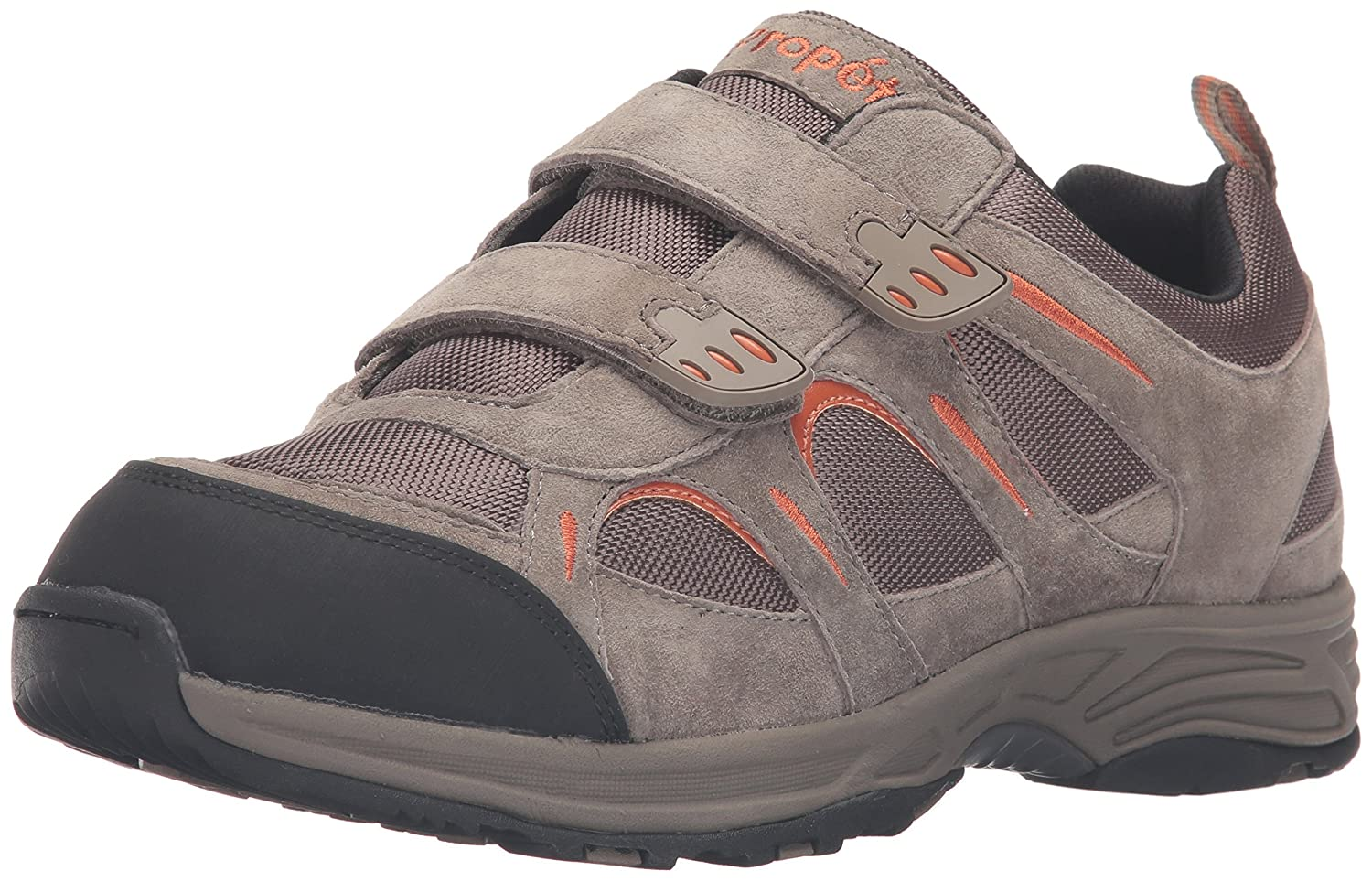 Propet Men's Connelly Strap Walking Shoe 10 3E US|Gunsmoke/Orange