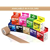 Kinesiology Physiotherapy Sports Tape+BONUS Instruction Guide. FDA Approved. Therapeutic Taping for Knee, Shoulder, Elbow, Boost Recovery & Support, Uncut & Precut