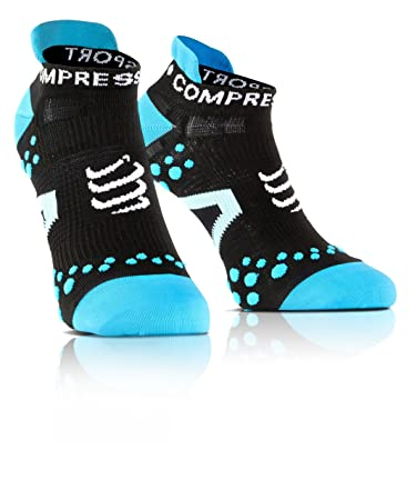 Compressport Laufsocken Racing socks v2.1 RUN LOW, Schwarz/Blau, 35-