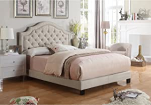 Rosevera Angelo Platform Bed, Queen, Beige