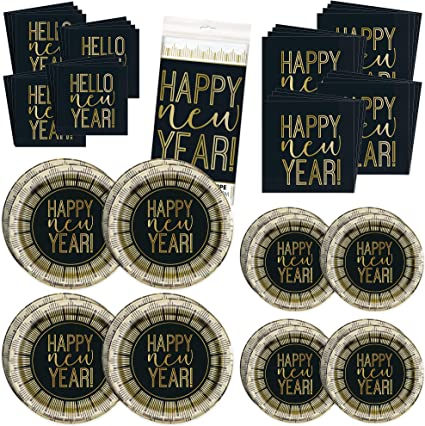 Beverage Napkins 16 16 Happy New Year Party 7 Plates
