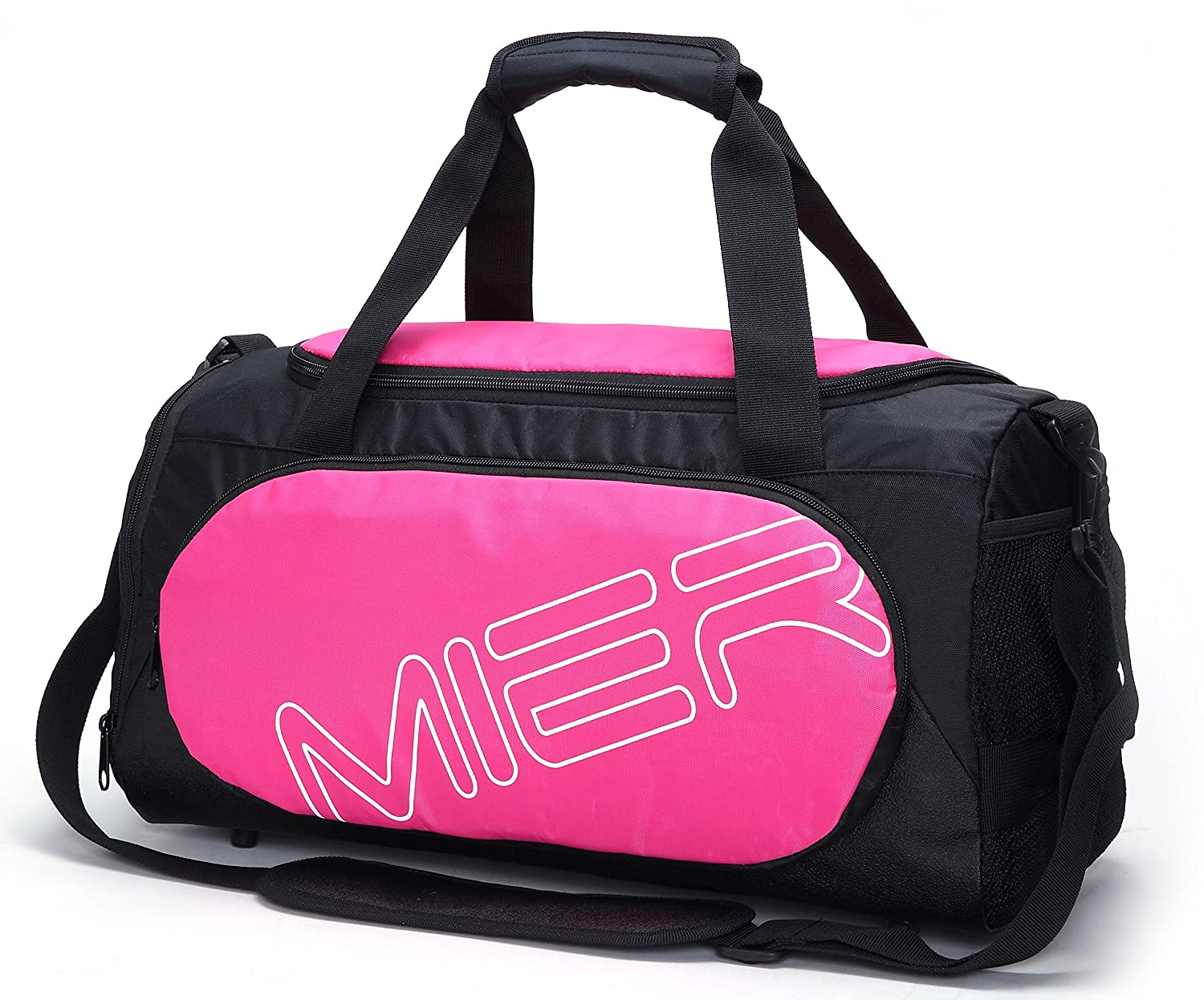 f7c5951c368 MIER Gym Bag Sports Duffel for Men and Women with Shoe Compartment, 25L  (Pink)