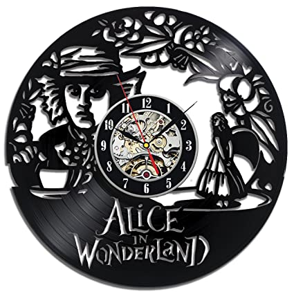 Alice In Wonderland Hatter Vinyl Record Wall Clock - Decorate your home with Modern Large Disney