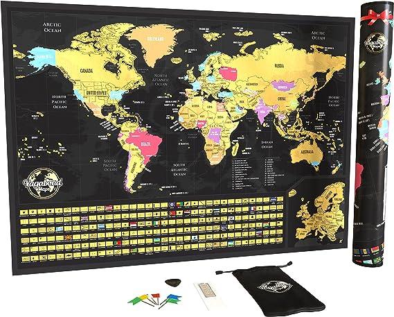 Mapa Para Rascar - de Rascar, Tamaño XXL, personalizado, 84 x 58 cm Estados Unidos.: Amazon.es: Hogar