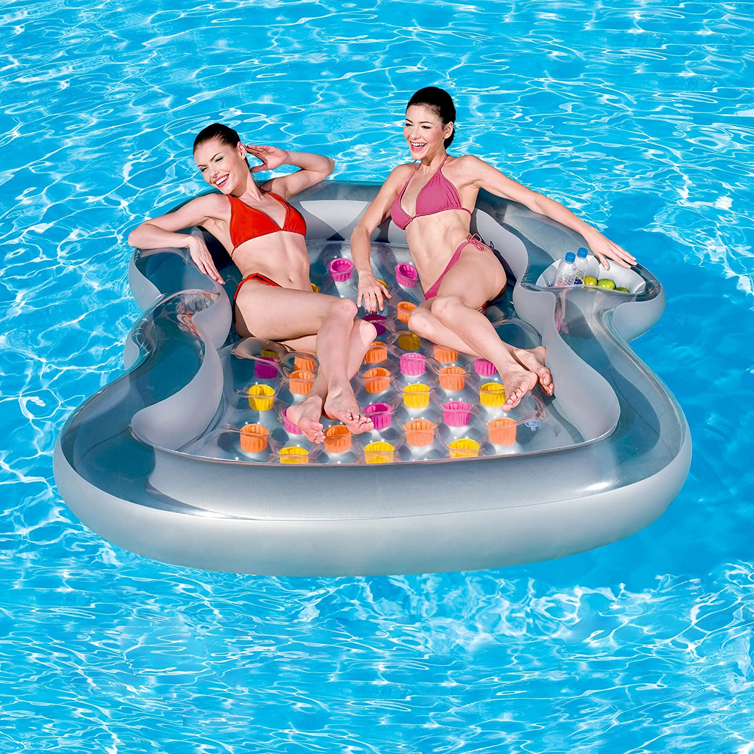 Perfect Double Designer Lounge Inflatable Pool Float: Toys U0026 Games