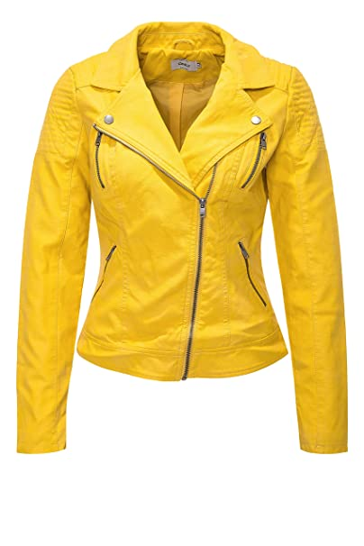 Only Onlsteady Faux Leather Biker CC Otw Chaqueta para Mujer