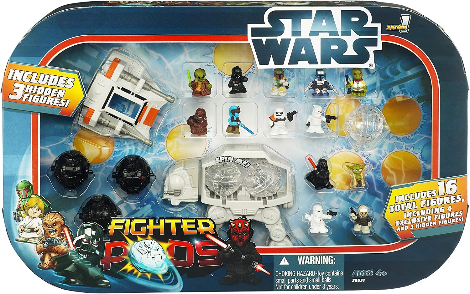 Star Wars Fighter Pods Series 3 ~ MINI RUBBER FIGURES ~ Loads to Choose from
