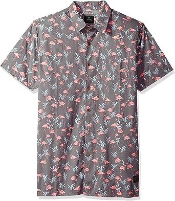 Rip Curl Hombre Manga Corta Camisa de Botones - Negro - Medium: Amazon.es: Ropa y accesorios