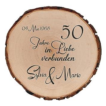 Amazon De Personalisierte Holzscheibe Baumscheibe Bedruckt Anstelle