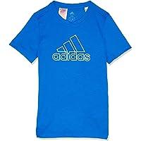 adidas Boys' Prime Tee, Blue/White(Blue), 128(7-8 Years)