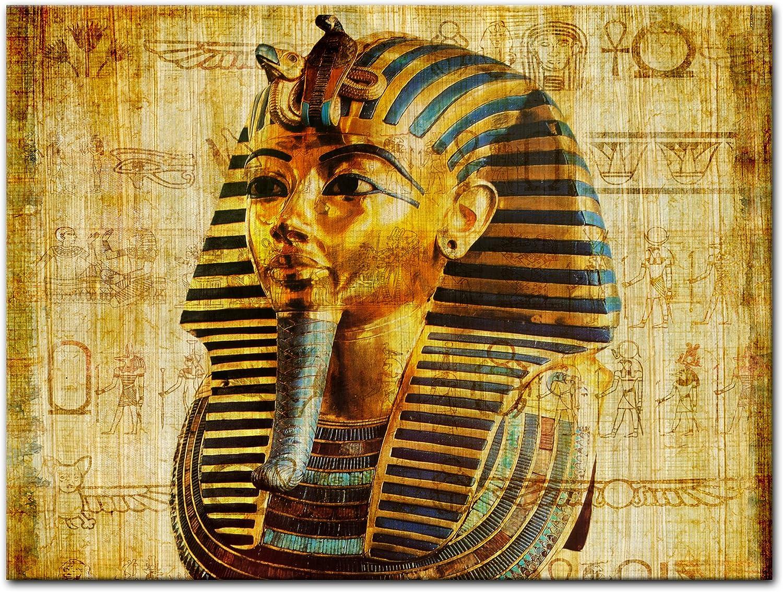 Bilderdepot24 Cuadros en Lienzo Faraón - Egipto - 100x60 cm 3 Piezas - Enmarcado Listo Bastidor Imagen. Directamente Desde el Fabricante: Amazon.es: Hogar
