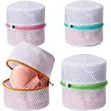 BAGAIL Lingerie Bags for Laundry - Set of 4 Honeycomb Mesh Bra Wash Bag with Premium Zipper Travel Laundry Bag for…