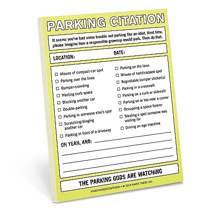 Parking citation nifty note amazon knock knock books parking citation nifty note ccuart Image collections