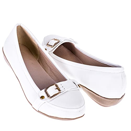 Ça Va Bien Fashion - Mocasines para mujer, color blanco, talla 38 EU: Amazon.es: Zapatos y complementos