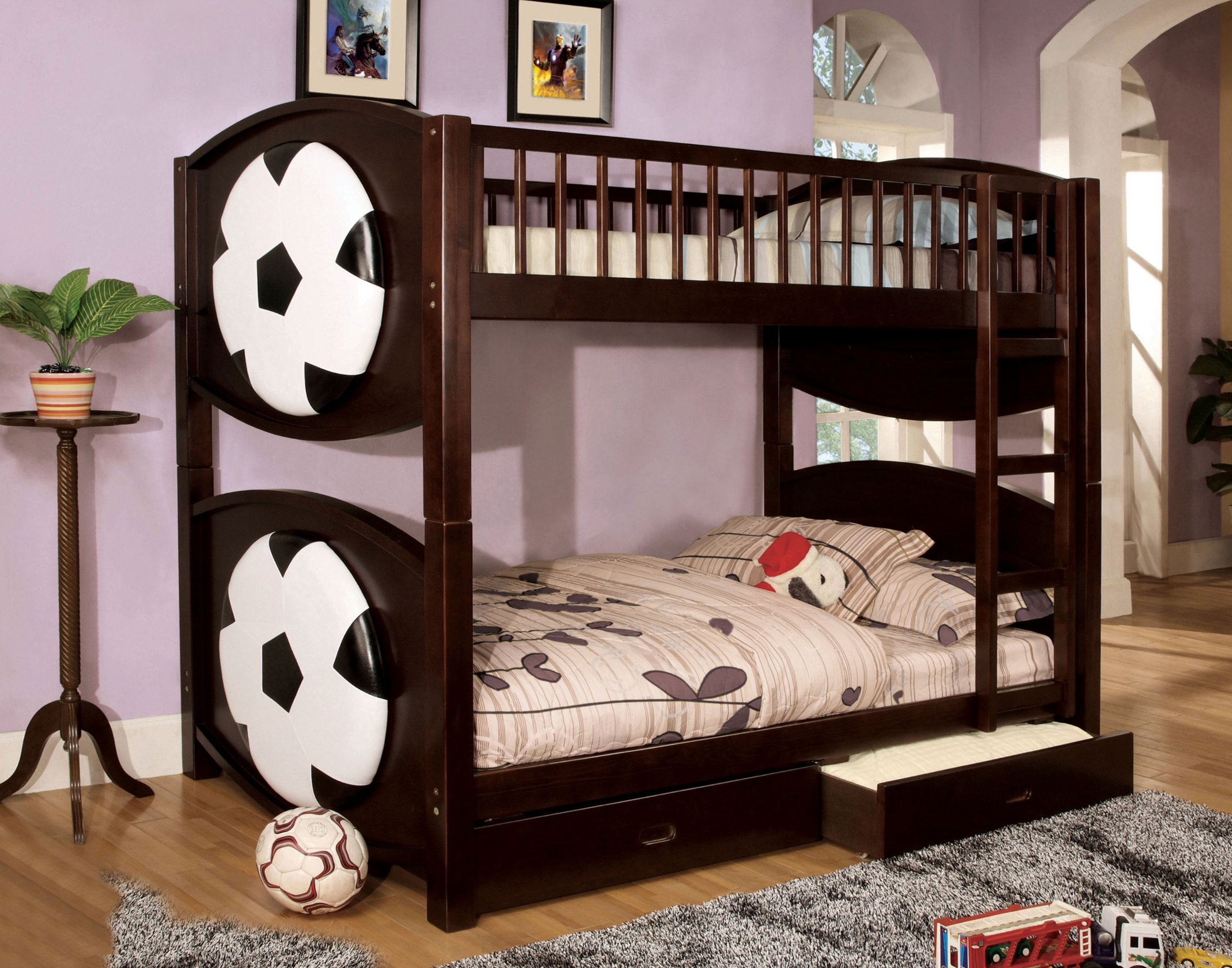 Furniture of America Soccer Bunk Bed with 2-Drawers, Twin by Furniture of America