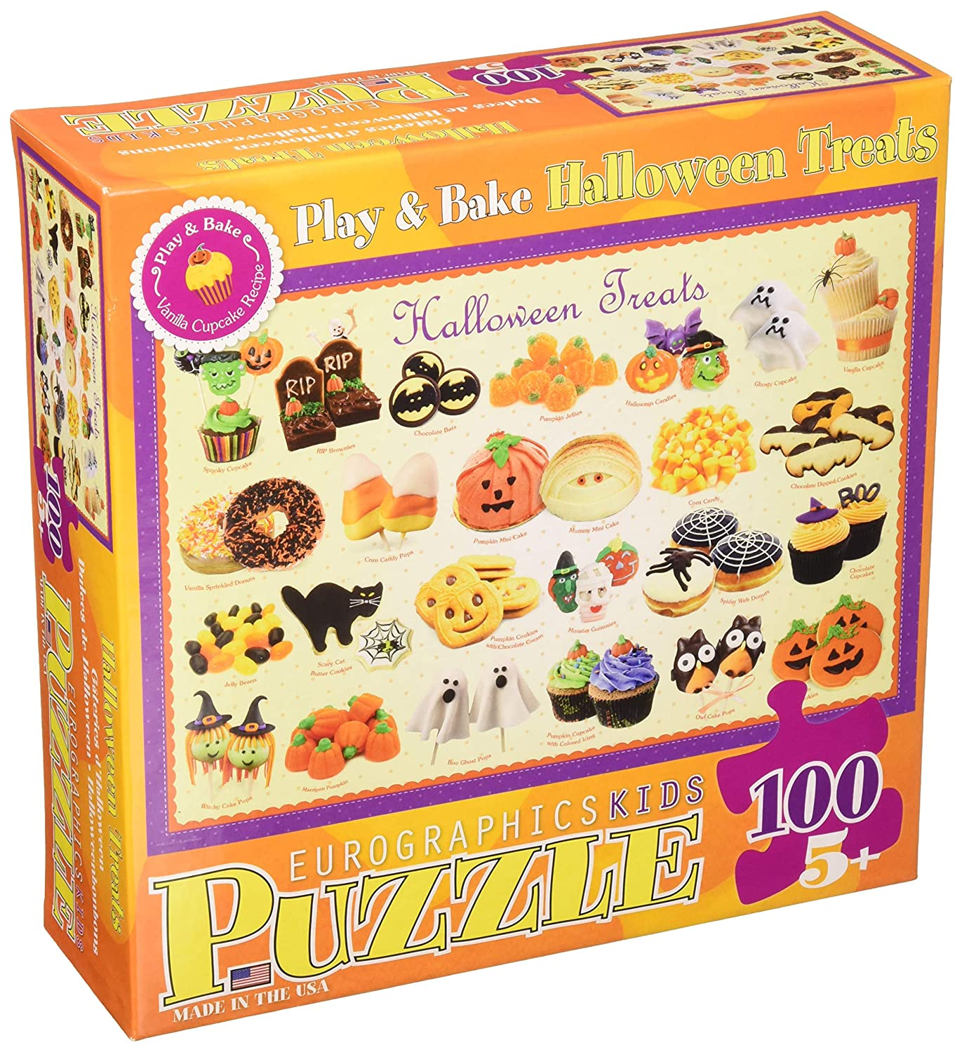 Eurographics Kids Sweet Puzzles Halloween Treats MO Puzzle (100 Pieces) 6100-0432