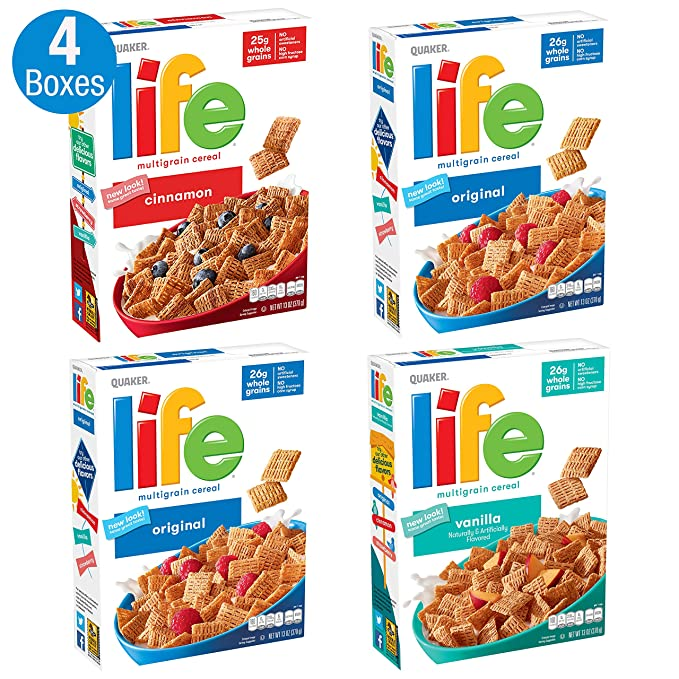 Quaker Cereal de avena en cuadritos: Amazon.com: Grocery ...