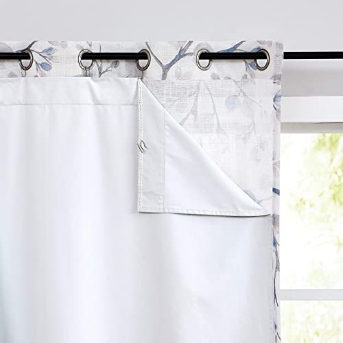 Central Park 100 White Blackout Window Curtain Liner Panels Rod Pocket Bedroom Hang with 10 Hooks Microfiber Thermal Coating Room Window Treatment Sets 2 Panels W48 x L92 x2 inches, White