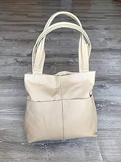 product image for Camel Leather Bag, Everyday Shoulder Handbag, Women Casual Handmade Handbags and Purses, Cloe