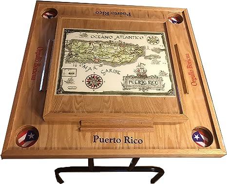 latinos r us Puerto Rico Domino Cuadro con el Mapa Classic: Amazon ...