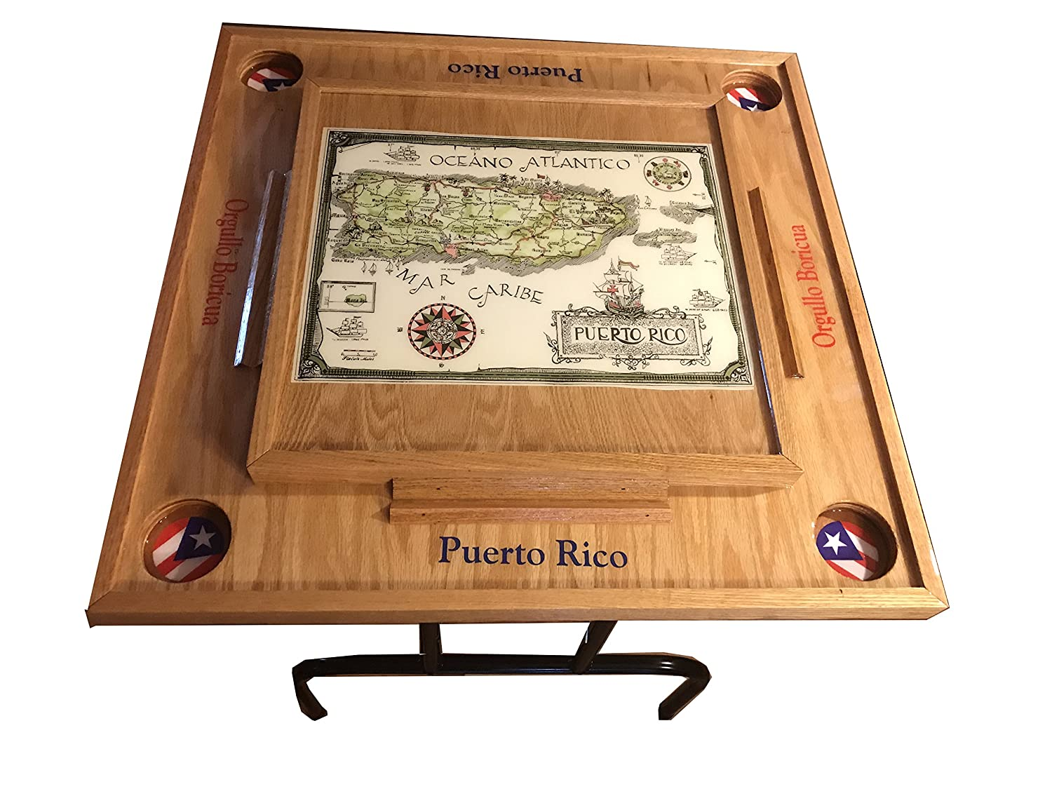 Puerto Rico Domino Table With The Map Classic