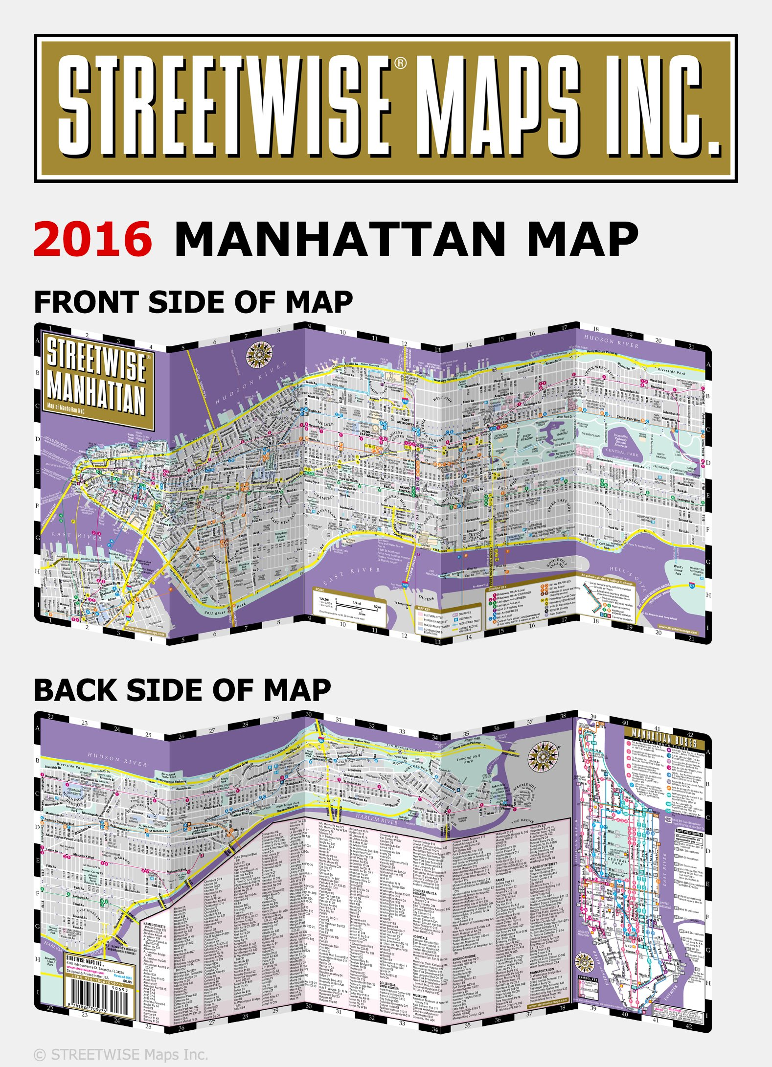 streetwise manhattan map laminated city street map of manhattan new york folding pocket size travel map with subway map bus map streetwise maps