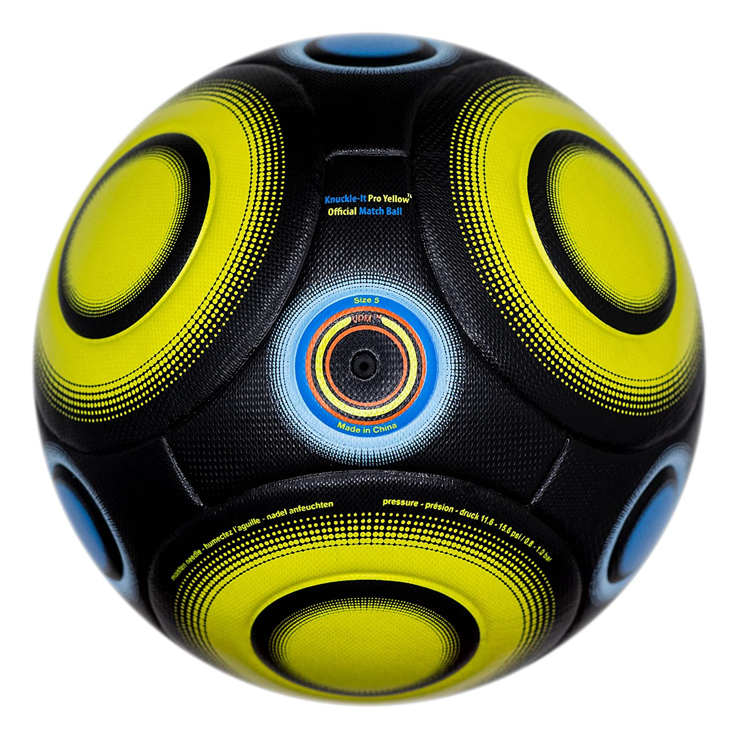 bend-itサッカー、knuckle-it Pro、サッカーボール、Official Match Ball with VPM and VRCテクノロジー B01BLP47PQ 5|Black/Yellow (Knuckle-It Pro Yellow) Black/Yellow (Knuckle-It Pro Yellow) 5