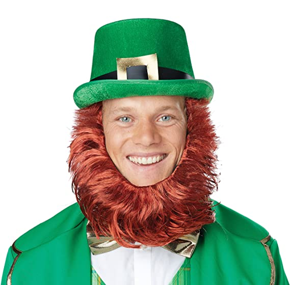 Amazon.com  California Costumes Irish Leprechaun Hat   Beard Getup ... b92e1b82034