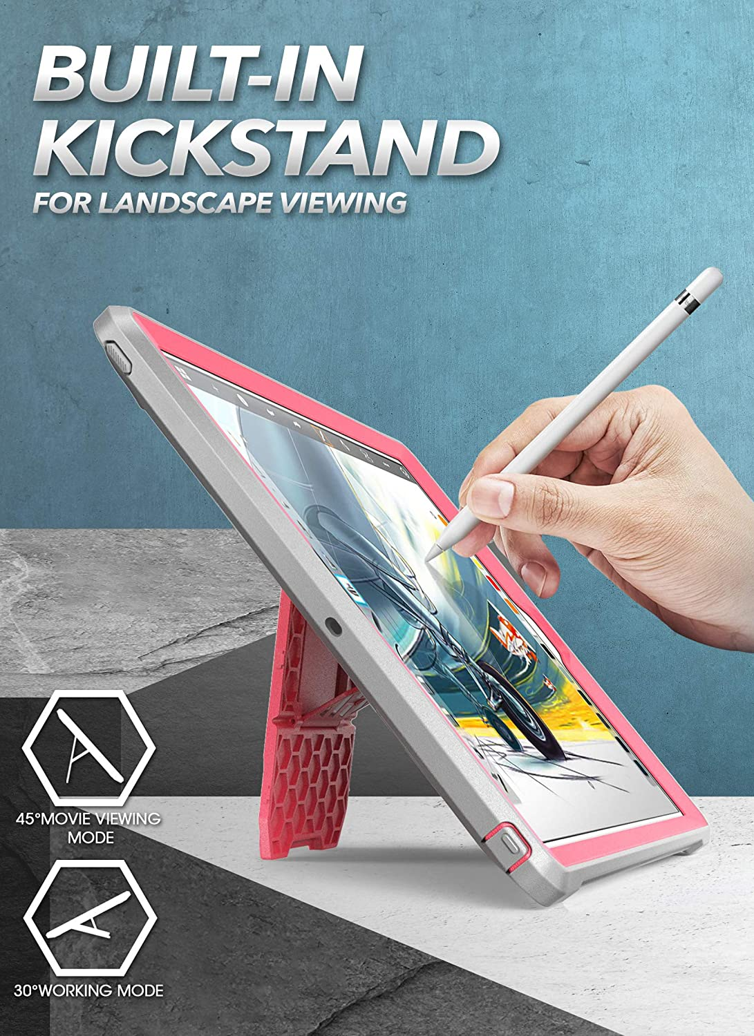with Built-in Screen Protector and Dual Layer Full Body Rugged Protective Case for iPad 10.2 Inch 2019 Rose Unicorn Beetle Pro Series SUPCASE Designed for iPad 10.2 2019 Case, iPad 7th Generation