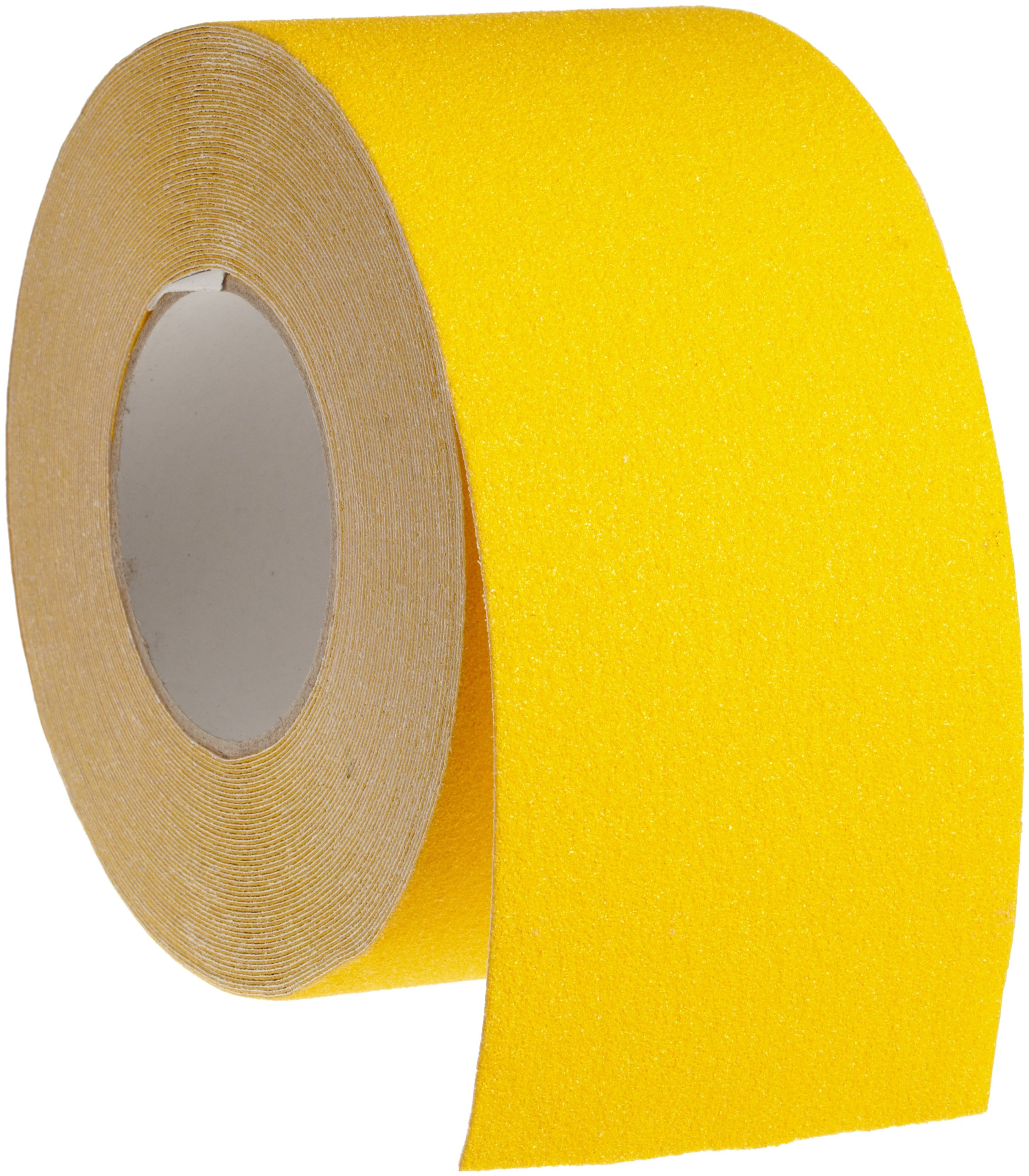 Brady 60' Length, 4'' Width, B-916 Grit-Coated Polyester Tape, Safety Yellow Color Anti-Skid Tape Roll Mounted