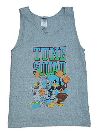 746d99527a52c8 Amazon.com  Looney Tunes Space Jam Tune Squad Gray Tank Top  Clothing