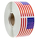 """500 American Flag Stickers (Perforated)/2.125"""" x"""