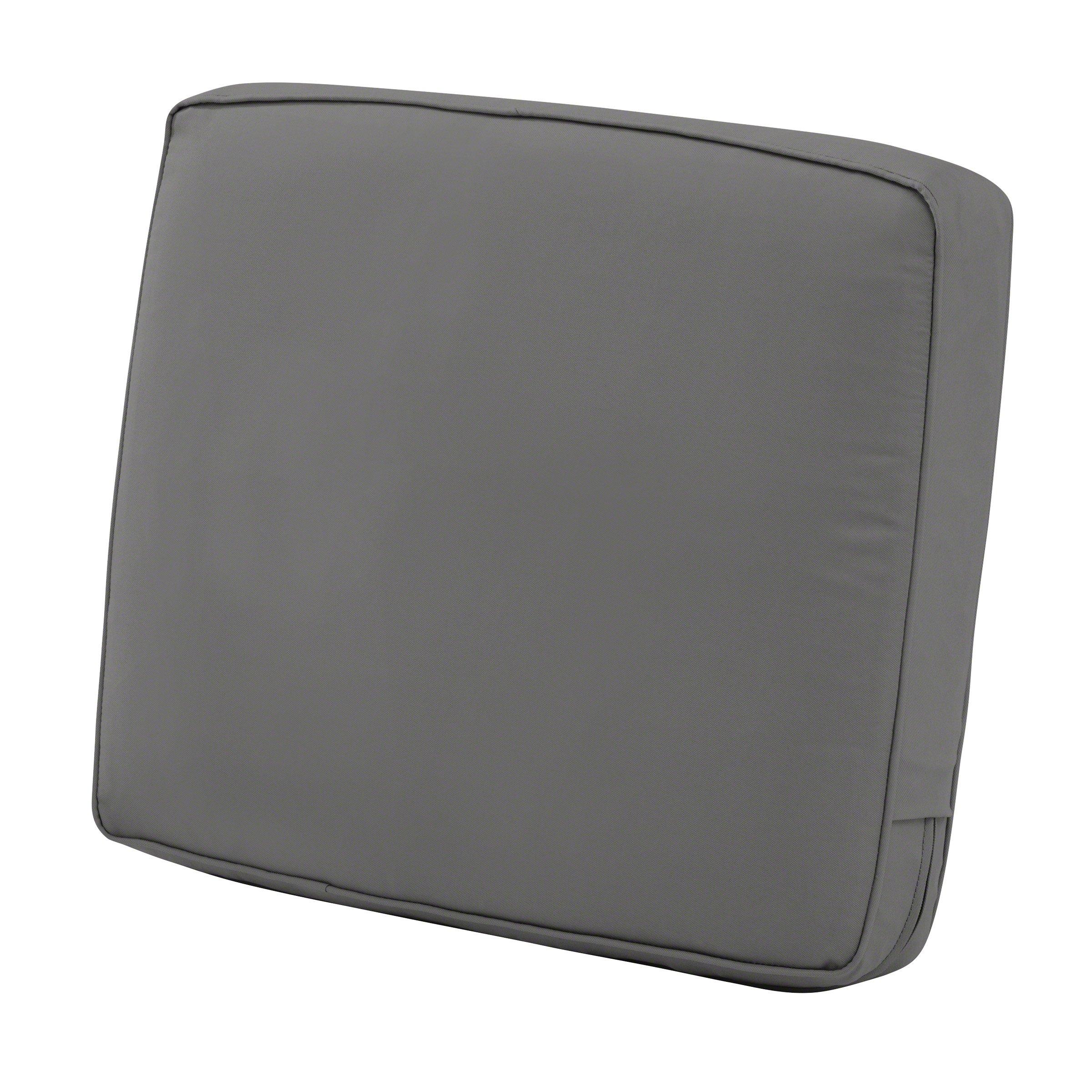 Classic Accessories Montlake Back Cushion Foam & Slip Cover, Light Charcoal, 25x18x4 Thick