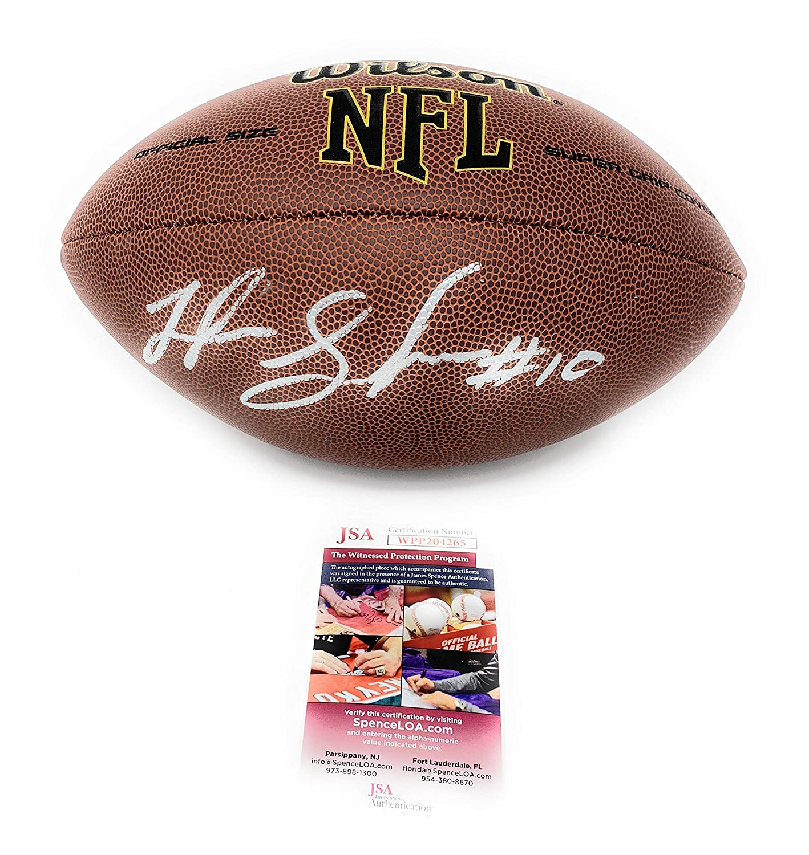 Josh Gordon New England Patriots Signed Autograph NFL Relpica Football JSA Witnessed Certified