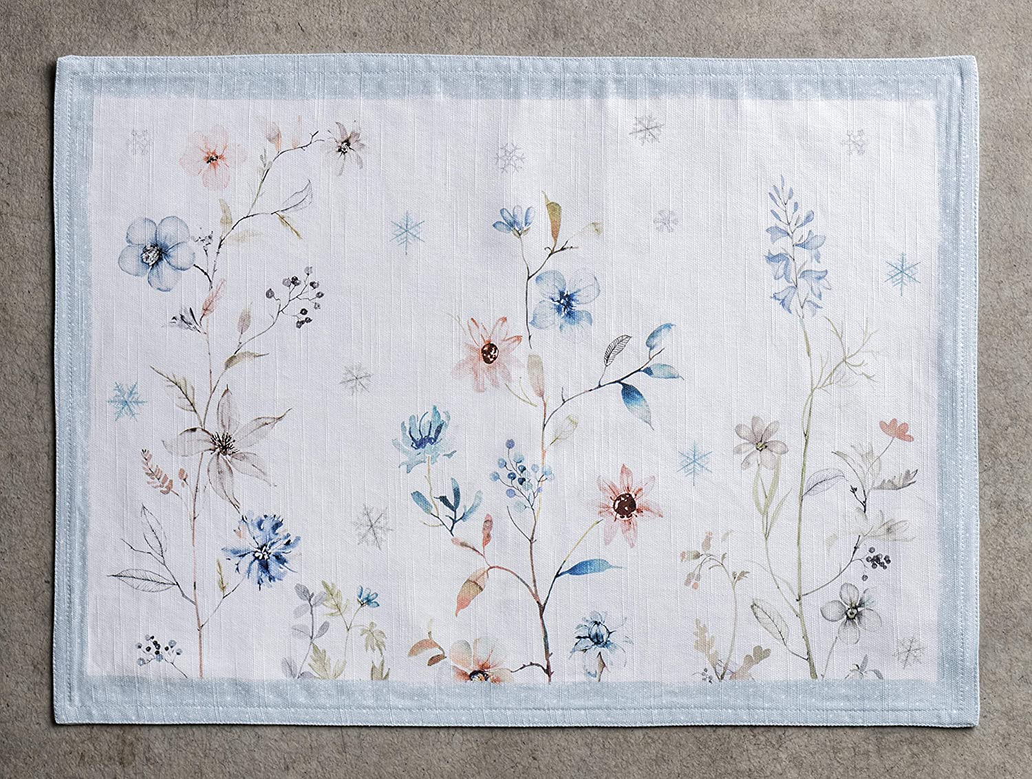 13 Inch by 19 Inch Everyday Use Thanksgiving//Christmas Maison d Hermine Bagatelle 100/% Cotton Set of 4 Placemats for Dining Table Dinner Parties Kitchen Wedding