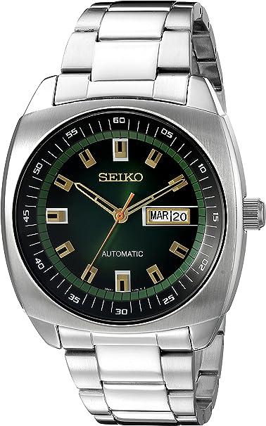 Reloj Seiko para Hombres 44mm, pulsera de Acero Inoxidable, cubierta de Hardflex: Amazon.com.mx: Relojes