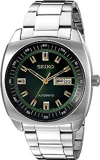 96022d74667042 Montre à Mouvement Automatique en Argent de Marque Seiko SNKM97 pour Hommes  en Acier…