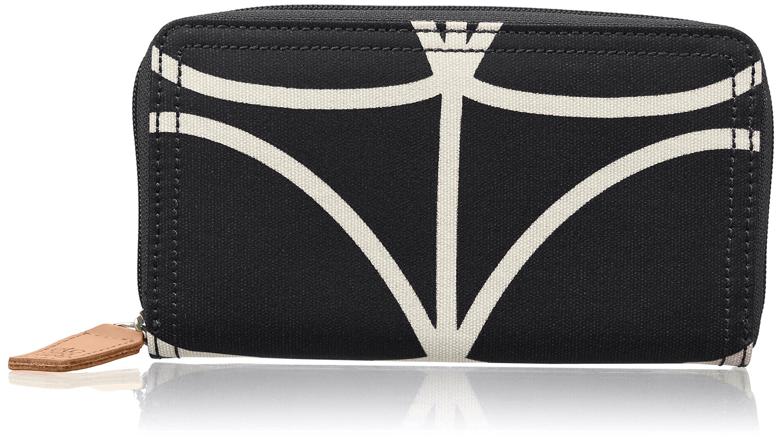 Etc Giant Linear Stem Big Zip Wallet Wallet, Black+Cream, One Size
