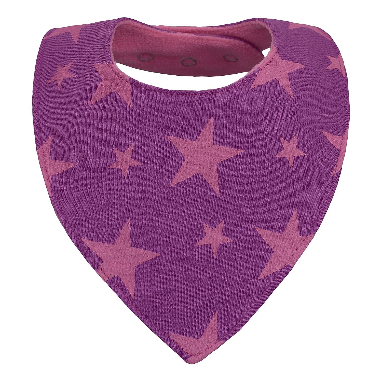 triangle doubl/é coton /éponge et polaire nouveau-n/é 1 mois /à 2 3 4 an-s Bavoir bandana b/éb/é fille lot de 5 pression bavette-s enfant-s dentition mixte uni rose violet avec motif